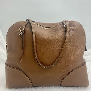 Gucci Leather Domed Satchel